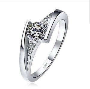 925 sterling silver round cut
